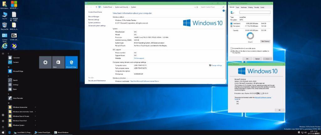 好用的预览版来了!Win10 Pro2 X64 16241 2in1 高效 快速 流畅 好用的一批